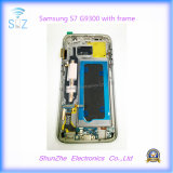 Передвижной сотовый телефон LCD для экрана касания галактики S7 G9300 G930f Samsung с рамкой
