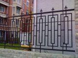 Cerca decorativa do aço da barreira do ferro feito