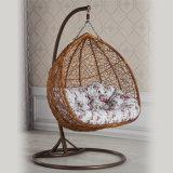 Напольный стул качания сада мебели формы яичка Wicker/ротанга вися