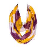 대조 색깔 큰 줄무늬 여자 80s 보일에 근거를 두는 긴 Hijab 스카프