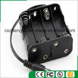 8AA de nuevo a sostenedor de batería posterior con los terminales de componente de alambre del enchufe de la C.C.