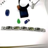 De Armband van de Manchet van het Horloge van de Mode van het Roestvrij staal van het Patroon van de camouflage voor Unisex-