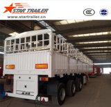 3 Aanhangwagen van het Vervoer van de Lading van de Omheining van assen de Zij