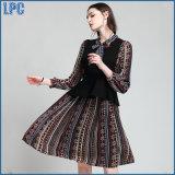 Lace-up 튜닉 복장 조끼 형식 한 벌을 인쇄하는 새로운 여자의 의류
