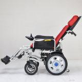 Sillón de ruedas eléctrico usado potencia de aluminio plegable eléctrico del regulador barato ligero del precio