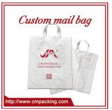 Custom plástico impreso logotipo chaleco bolsa
