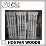 Frontière de sécurité blanche intérieure d'escalier en bois solide de matériau de construction