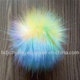 擬似毛皮のポンポンの卸売車のKeychainののどの毛皮の球のペンダント