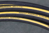 長く包まれた表面ワイヤー螺線形の生命4sh油圧ゴム製ホースを使用して