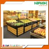 Cremalheira de indicador da fruta e verdura do supermercado