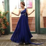 Chiffon Bridesmaid Vestido formal Jeweled Prom Vestidos de noite E13907