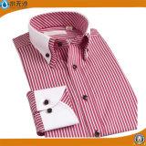 Usine 2017 chemises de robe d'affaires de coton de chemises de mode d'hommes de ressort