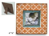 Bâti en bois de photo d'illustration de bébé pour le bébé