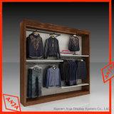 Crémaillère simple de vêtement de vêtement de pente commerciale