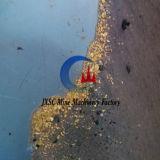Gold, das Tisch für Erzaufbereitung rüttelt