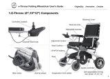 8 인치 뒷 바퀴를 가진 세륨에 의하여 승인되는 접히는 전자 휠체어