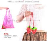 Strawberry bolso de compras plegable para promocional (DXB-5277)