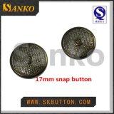 Botones libres del broche de presión del resorte del acero inoxidable 17m m del níquel