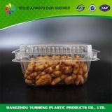Прозрачная пластичная коробка печенья, упаковывая контейнер еды