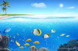 ホーム装飾のための青い海のデジタルによって印刷される油絵