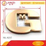 Etiqueta conocida de la insignia del metal de Customed para el bolso