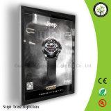 Cadre léger magnétique de publicité en aluminium de Frameless DEL de vente chaude en ligne