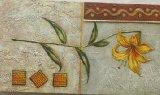 Pintura de suspensão da lona decorativa amarela da HOME do teste padrão do lírio