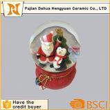 Recuerdos de cristal de encargo calientes del globo del regalo de la Navidad