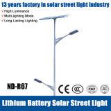 Luz de rua 90W solar popular com bateria de Lithuim