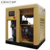 Einfacher Betriebstechnik-Schrauben-Luftverdichter für Sale/5.5kw7.5HP Luftverdichter/Miniluftverdichter Btd-5.5am