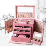 PUのパッキング記憶の表示美の宝石類の箱の宝石箱