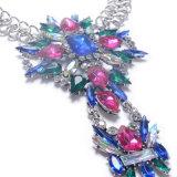 형식 금속 합금 다채로운 화려한 모조 다이아몬드 다이아몬드 수정같은 발목 장식 보석