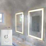 Pet Material Espelho Defogger Anti Fog Function Espelho do banheiro Demister