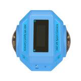 組み込みのWiFiの二重レンズ4k 360dの水中カメラ