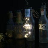 Haing na luz feericamente psta da decoração da luz de bulbo de Edison do painel solar do jardim