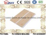 木デザインPVC天井板PVC壁パネルのプラスチックパネルCielo Raso De PVC