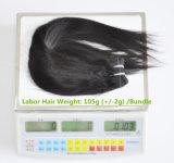 加工されていない労働の毛の拡張105g (+2g) /Bundle自然なブラジルのバージンの直毛100%の人間の毛髪は等級8Aを編む