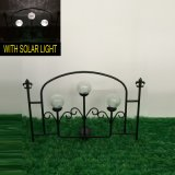 Украшение загородки сада металла Linellae стеклянного шарика солнечное светлое