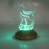 Color popular de la fuente del regalo o del partido de la Navidad que cambia la figura de acrílico luz del LED