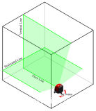 Riga trasversale verde strumento del livello del laser con la parentesi magnetica Vh88
