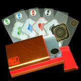 Cartão de jogo do PVC de Transparant com anel