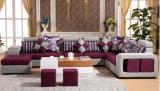 Sofá de madera del hogar de la tela del sofá de la sala de estar (HX-SL027)