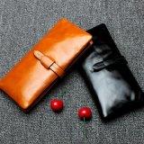 Вскользь кожаный кредитная карточка RFID преграждая бумажники (0231)