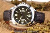 Reloj de los hombres brillantes hermosos del cuarzo con la correa de cuero genuina Fs574