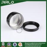 Aluminiumsahneglas 80ml mit Fenster-Schutzkappen-leerem kosmetischem Gesichtssahneverpackungs-Behälter-Aluminiumsahnezinn mit Kappe