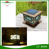 Lumière solaire décorative extérieure à haute teneur classique imperméable à l'eau en gros de pilier, grille solaire de lumière de poste de frontière de sécurité pour le jardin