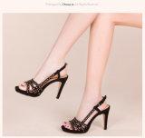 (Donna-в) сандалии женщин высокой пятки платформы овчины Scrib высокого качества тонкие
