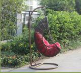 정원 가구 옥외 PE 등나무 또는 고리 버들 세공 거는 의자