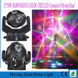 段階のためのビームが付いている12*10W RGBW 4in1 Mutil LEDのフットボールの移動ヘッド
