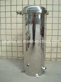 Filtro em caixa ao ar livre industrial de água do aço inoxidável